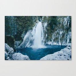 Winter Wahclella Falls Canvas Print