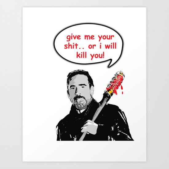 lucille is hungry Art Print