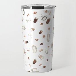 Coffee Sketches Collage Travel Mug