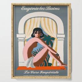 Plakat eugenie les bains la cure imperiale Serving Tray