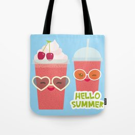 Hello Summer Kawaii cherry smoothie Tote Bag