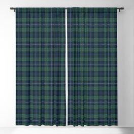 Tartan Plaid Clan Robertson Checkered Pattern Blackout Curtain