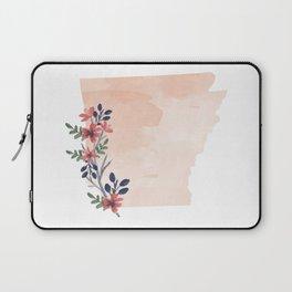 Arkansas Watercolor Floral State Laptop Sleeve