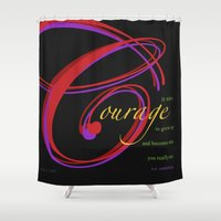 courage Shower Curtains featuring Courage by ZooLN Art