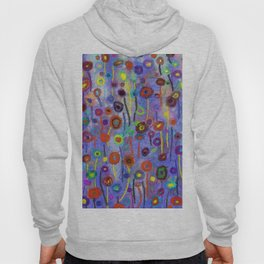 Abstract Flowers Wild Hoody