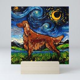 Irish Setter Night Mini Art Print