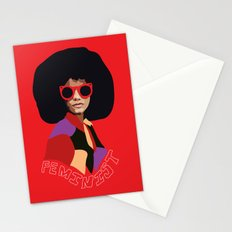 Feminist Afro Stationery Cards