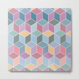 Cubes - Various Colours Metal Print