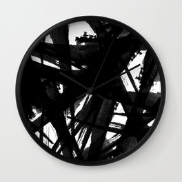 Abstract Strokes Wall Clock