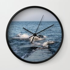 Wave Break Wall Clock