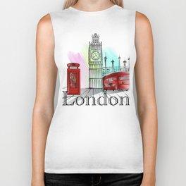 London,bigben design Biker Tank