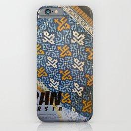 classic poster Iran Persia Masjid-I-Shah Isfahan Arcades iPhone Case