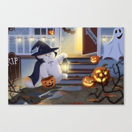 Louie Halloween Canvas Print