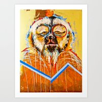 the dude Art Prints featuring DUDE.... by Peterson J Guerrier