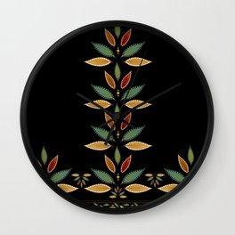"""Tree of Polka Dots Leaves (Black)"" Wall Clock"