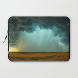 Open the Heavens - Panoramic Storm with Teal Hue in Northern Oklahoma Laptop Sleeve