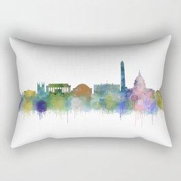Washington City Skyline Rectangular Pillow