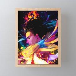 Neon Head Framed Mini Art Print
