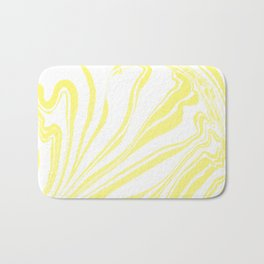 Yellow Marble Ink Watercolor Bath Mat