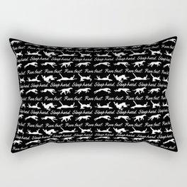 Run Fast Sleep Hard Rectangular Pillow