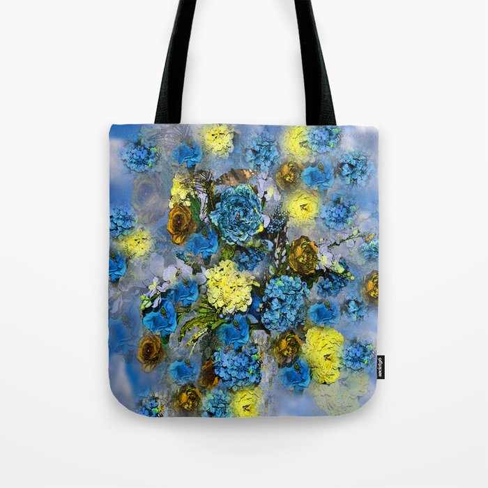 HYDRANGEA AND ROSES Tote Bag