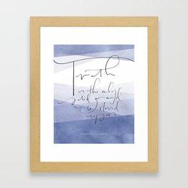 Truth - Elizabeth Cady Stanton Framed Art Print