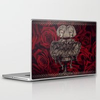 gothic Laptop & iPad Skins featuring Gothic Twins by AKIKO