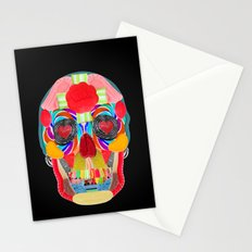 Sweet Sweet Sugar Skull On Black Stationery Cards