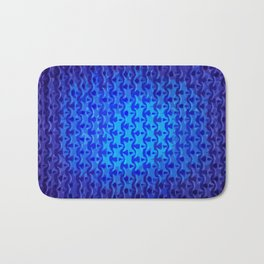 Indigo Abstraction Bath Mat