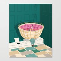 marc johns Canvas Prints featuring Johns Hopkins Privy by mark smith