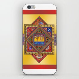 Meditation on Serenity (gradient gold) iPhone Skin
