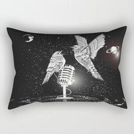Two birds with microphone Rectangular Pillow