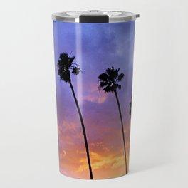 """Butterfly Beach Palms"" Sunsets Travel Mug"
