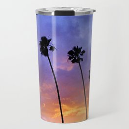 """Butterfly Beach Palms"" Sunsets Travel Mug"