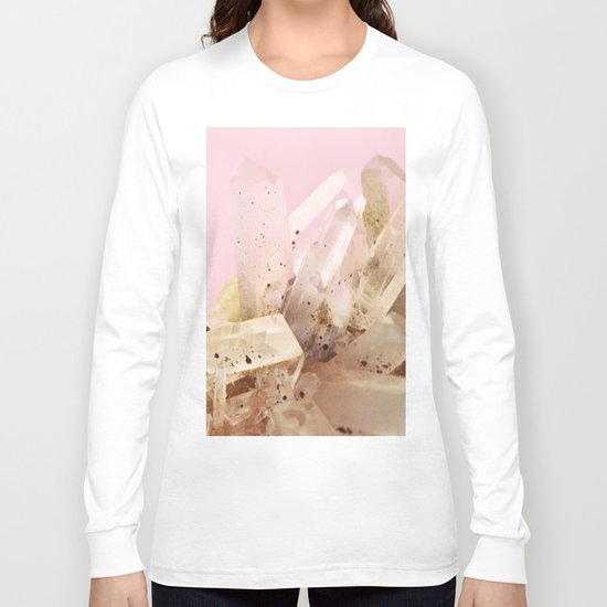 Quartz Crystals on Blush Long Sleeve T-shirt