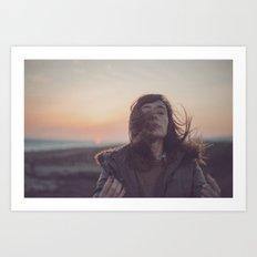 sin ningún viento, hazme caso, gira corazón gira Art Print