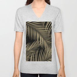 Palm Leaves - Gold Cali Vibes #9 #tropical #decor #art #society6 Unisex V-Neck
