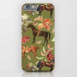 HORSES & Guacamone background  iPhone Case