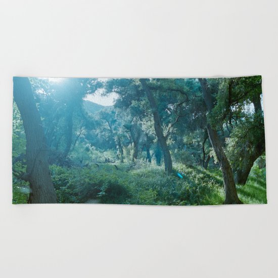 Green Forest I Beach Towel