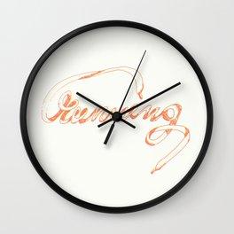 running typography Wall Clock