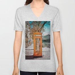 Phone booth Unisex V-Neck