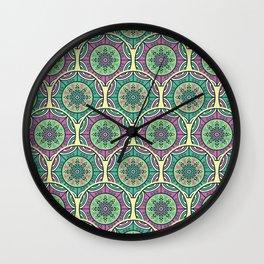 Mosaico Purple Teal Wall Clock