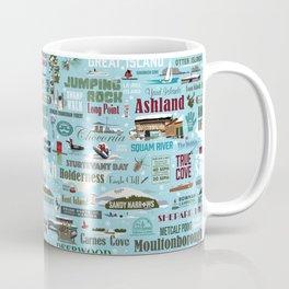 Squam Lake holiday wrapping paper #1 Coffee Mug