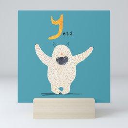 Y is for Yeti Mini Art Print