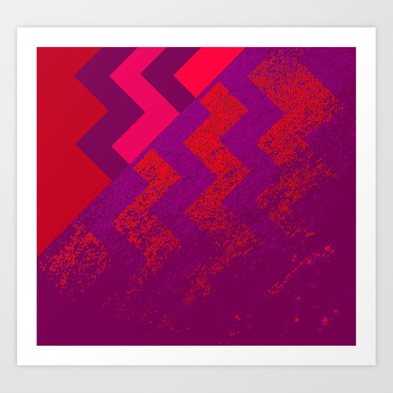 rational meets irrational (in red) Art Print