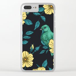 Yellow Wild Rose Clear iPhone Case