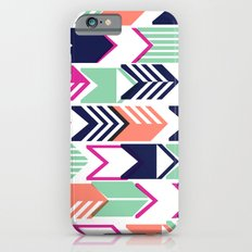 Tribal Arrows (Blue, Pink, Coral & Mint) Slim Case iPhone 6s
