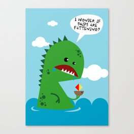 Do monsters worry about weight loss? Canvas Print