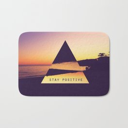 stay positive new art triangle 2018 view sea cover case sticker stickers Bath Mat