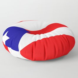 Flag of Puerto Rico Floor Pillow